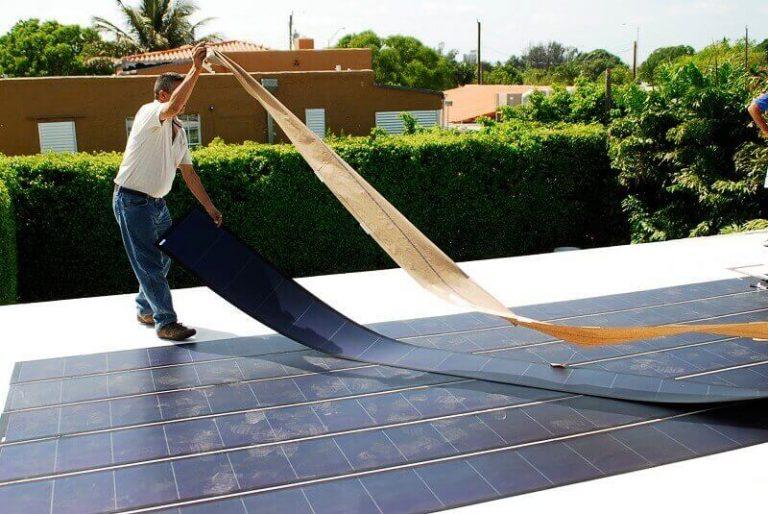 Paneles solares de capa fina o silicio amorfo