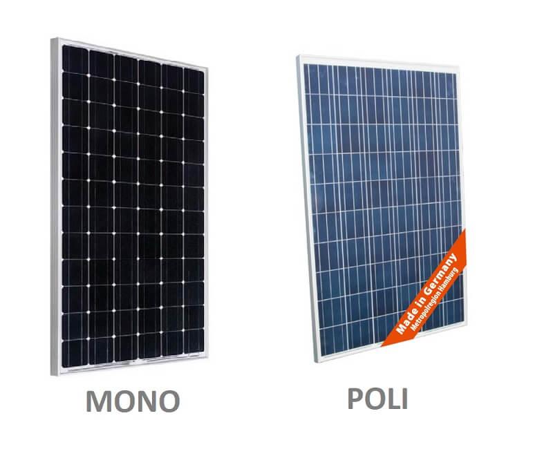 Los tipos de paneles cristalinos que existen